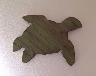 Rustic Pallet Turtle, Sea Turtle Decor, pallet beach decor, turtle sign