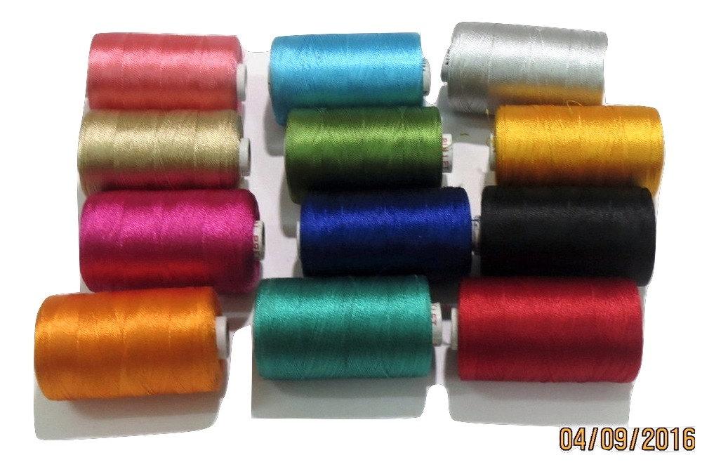 Fil de broderie soie, 25 25 soie, bobine de fil de soie indienne, à la main et Machine à broder, fil de soie en gros fil de soie Art 6a6e34