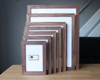Solid Walnut Picture Frames - All Sizes