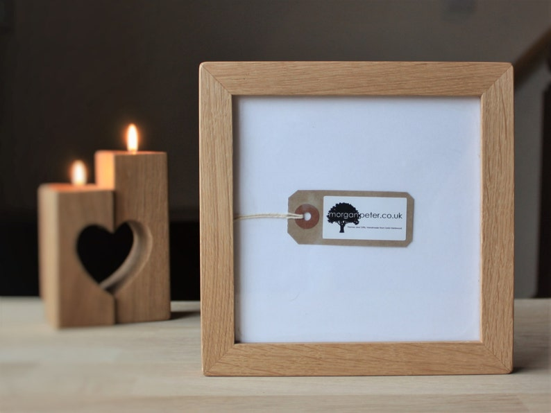6x6 Frame  Oak  6x6 picture frame  square oak picture image 0
