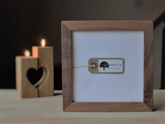 6x6 Wooden photo frames - 6 x 6 - square walnut picture frames from ...
