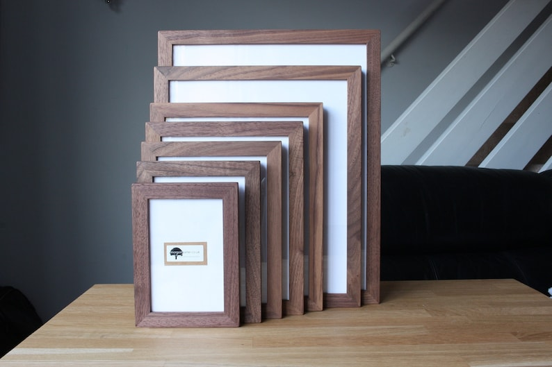 Solid Walnut Picture Frames  All Sizes image 1