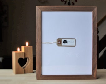 8x10 Frame - Walnut - Gallery Wall - 8x10 Photo  Frames - 8x10 Wood Frame - Wooden Picture Frame - x