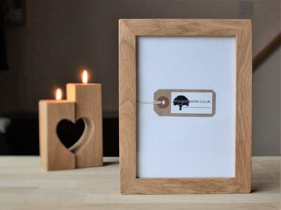 5x7 oak frame wooden photo frame for pics 5x7 custom etsy
