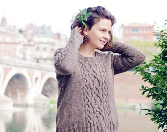 """Woman sweater """"Grand Cassiope"""" - English French"""