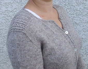 """Woman cardigan """"Grand Coquelicot"""" - English French"""