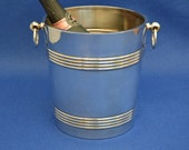 Christofle Champagne Bucket - Ice - Wine Cooler - Vintage Art Deco - silver Plate - Barware - Bar Ware - France French