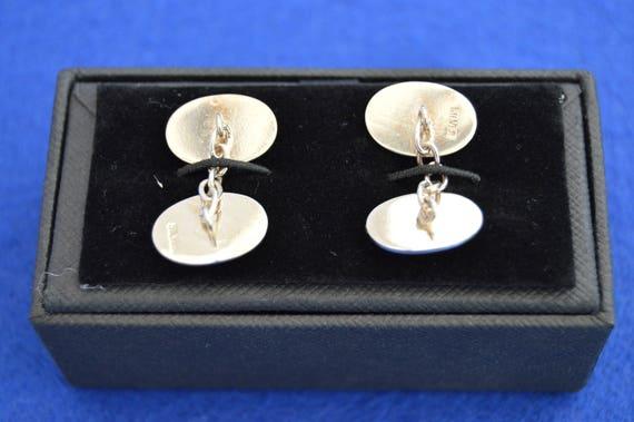 Cuff links Shirt Tie 925 Sterling Sheffield 1975 Wedding Vintage Solid Silver Cufflinks