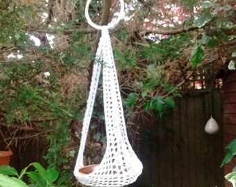Häkeln Sie Makramee Werk Aufhänger Futterhäuschen Für Vögel Im