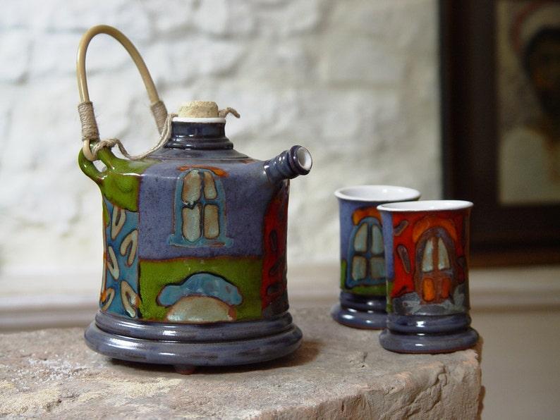 Unique Handmade Pottery Set Ceramic Gift Handmade Earthen image 0