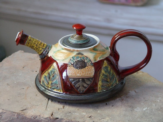 Wheel Thrown Anniversary Gift Teapot - Wedding Gift - Pottery Tea Pot - Ceramic Tea Kettle - Gift Idea Teapot - Handmade Family Gifts