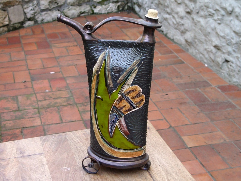 Unique Ceramic Vessel Iron Anniversary Gift Decorative image 0