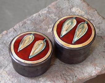 Red Pottery Sugar Bowl, Ceramic Honey Pot, Kitchen Canister, Storage Box, Unique Clay Gift, Handmade Pottery Art, Kitchen Set, Home Decor