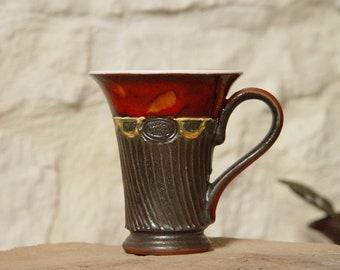 Handmade Pottery Mug - Ceramic Coffee Mug - Teacup - Kitchen Decor - Danko Pottery - Earthen Cup - Red Pottery Mugs - Birthday Gifts