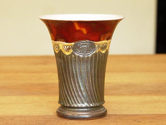 Ceramics and Pottery Wine Tumbler - Water Goblet - Earthen Red Mug - Pottery Wine Set - Unique Mugs - Pottery handmade - Danko