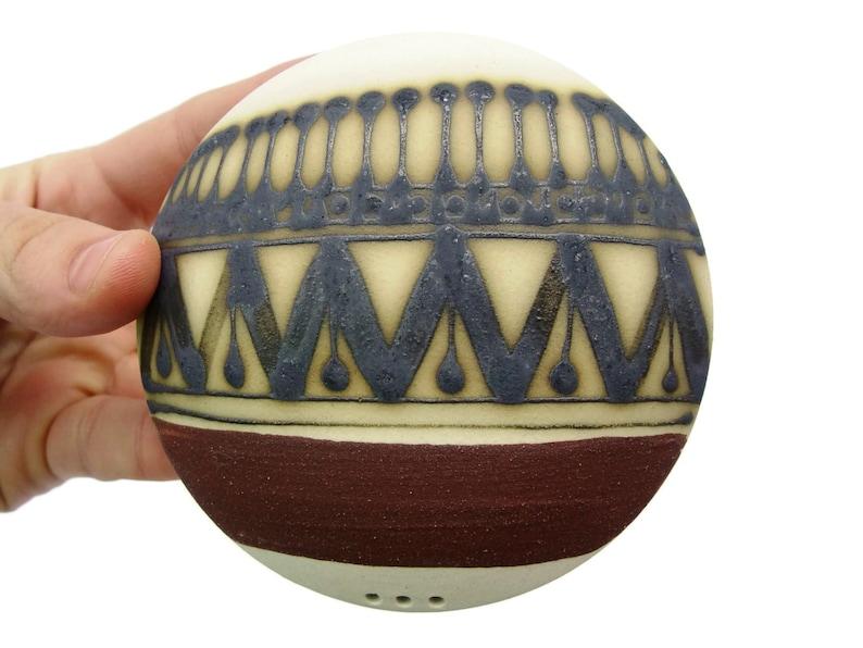 Stoneware Salt Shaker Handmade Ceramic Salt or Pepper shaker image 0