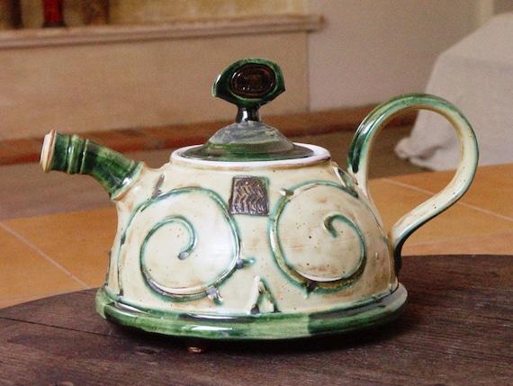 Ceramic Teapot - Colorful Handmade Pottery Tea Pot - Hand Painted Tea Maker - Wheel Thrown Clay Art - Earthen Pots - Danko