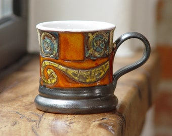 Small Colorful Mug - Multicolor Handmade Ceramic Mug - Espresso Cup - Coffee Demitasse Cup - Ceramics and Pottery - Danko Pottery