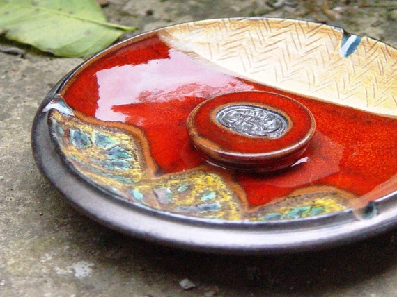 Pottery ash tray. Ceramic ash tray, Decorative tray, Ceramics and Pottery, Smoking tray, Ceramic art, Home Decor, Danko Pottery