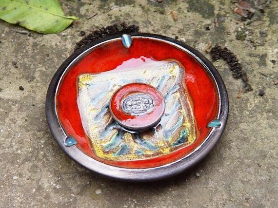 Pottery Smoking tray. Ceramic ash tray, Wheel thrown pottery, Decorative tray, Ceramic art, Ceramics and pottery, Home Decor