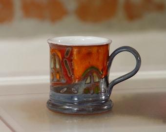 Coffee Mug - Handmade Colorful Ceramic Mug - Espresso Cup - Demitasse Cup - Teacup - Ceramics and Pottery - Danko Pottery