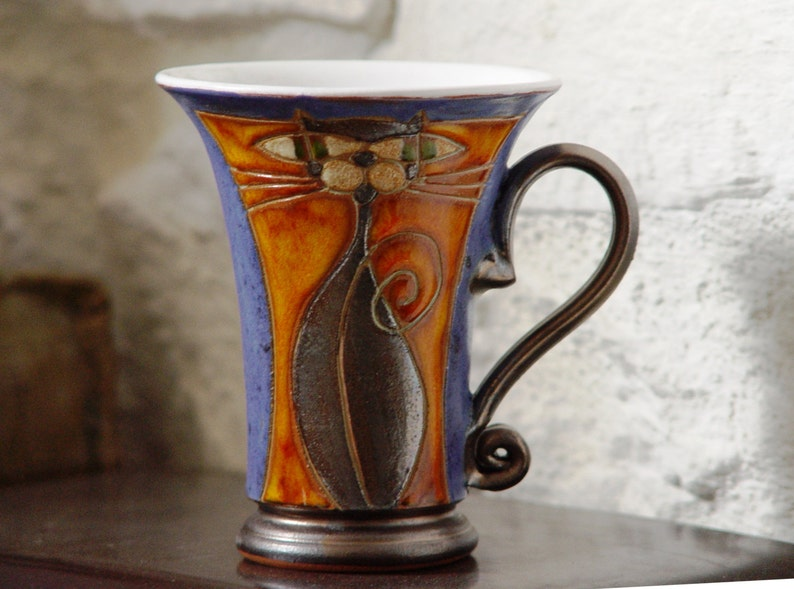 Ceramic Tea or Coffee Mug Cute Mug Handmade Pottery Mug image 0