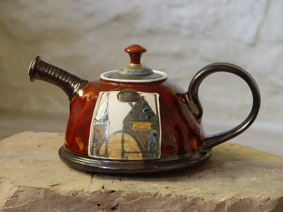 Ceramic Tea Pot - Red Handmade Pottery Teapot - Ceramics and Pottery - Arts and Crafts - Ceramic Art - Danko Pottery - Wedding Gift