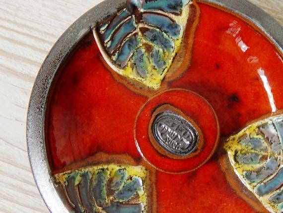 Red Ceramics and Pottery Ash Tray, Smoking tray, Pottery ash tray. Decorative pottery, Ceramic art, Kitchen decor, Home Decor, Danko