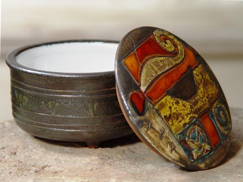 Handmade Ceramic Sugar Bowl Unique Pottery Bowl Wedding image 0