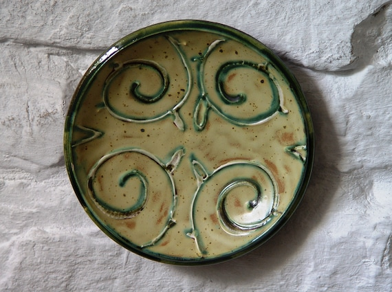 Decorative Ceramic Plate, Small Pottery Plate, Wall-Hanging Plate, Wall Decor, Hand Painted Pottery, Danko Pottery