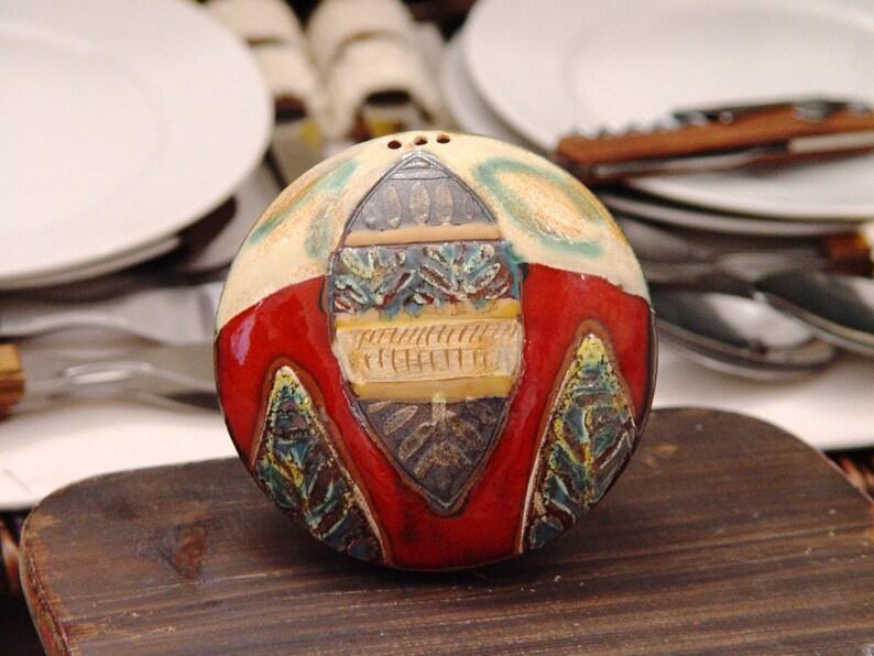 Handmade Pottery Salt Shaker Salt or Pepper Box Cute Pottery image 0