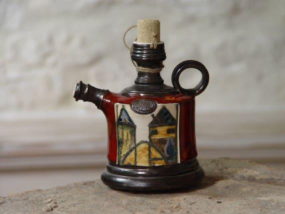 Handmade Pottery Bottle - Small Ceramic Pitcher - Artistic Pottery - Red Earthen Jug - Ceramic Art - Kitchen Home Decor - Danko Pottery