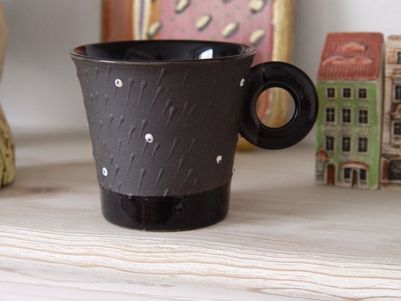 Unique Pottery Coffee Cup - Wheel Thrown Stoneware Mug - Mother's Day Gift - Artistic Birthday Gift - Danko Pottery - Collectors Mug