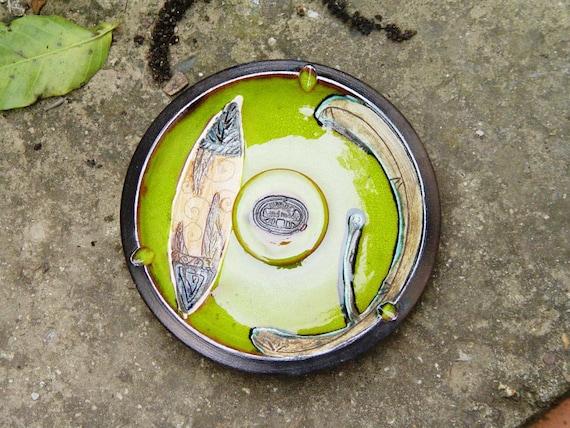 Pottery ash tray. Smoking tray, Home Decor, Wheel thrown pottery, Ceramic art, Ceramics and pottery, Decorative tray