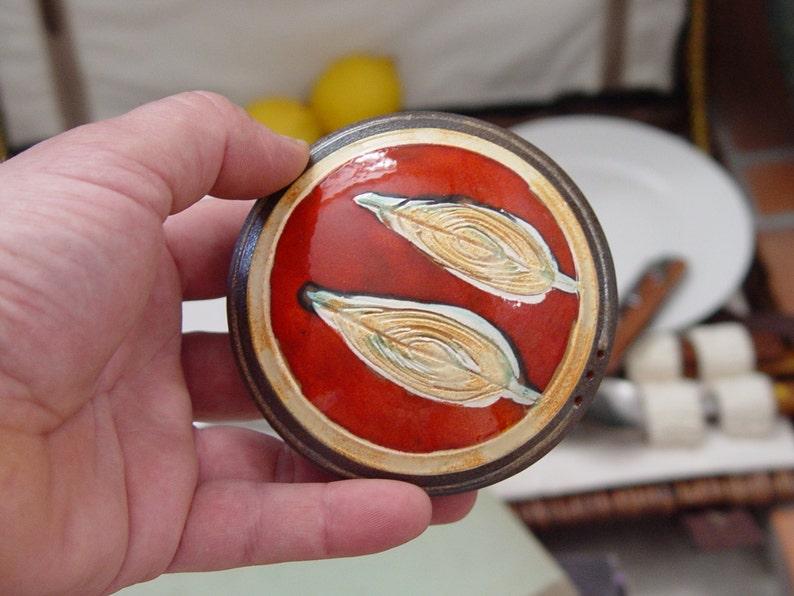 Pottery gift Ceramic Salt Shaker. Pepper Shaker Salt image 0