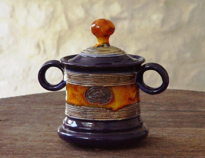 Handmade Sugar bowl Ceramics and Pottery Sugar Bowl with Lid image 0