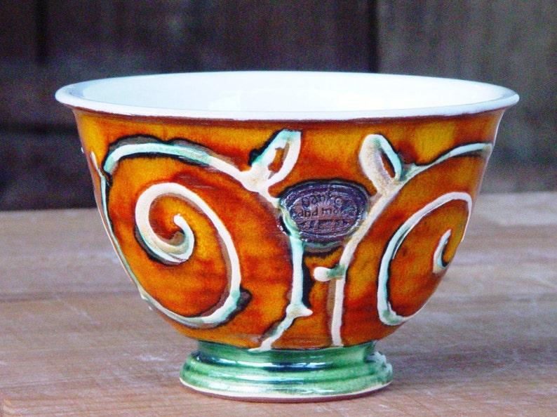 Pottery Cereal Bowl Handmade Ceramic Soup Bowl Salad Bowl image 0