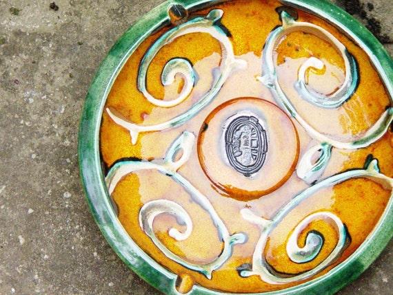 Pottery Ash Tray. Ceramic Tray, Wheel Thrown Clay Ashtray. Ceramics and Pottery, Smoking tray, Ceramic art, Home Decor, Barware