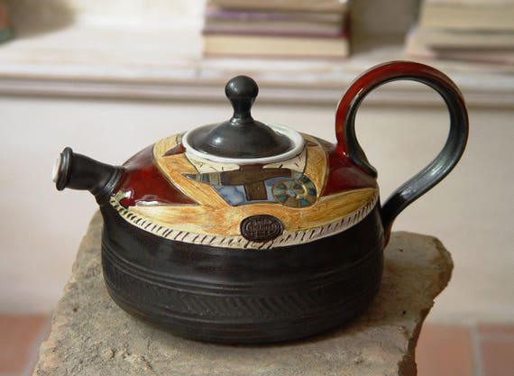 Pottery Teapot - Tea Kettle - Ceramic Tea Pot - Wheel Thrown Handmade Pot - Clay Art - Earthenware Teapot - Functional Designer Pottery