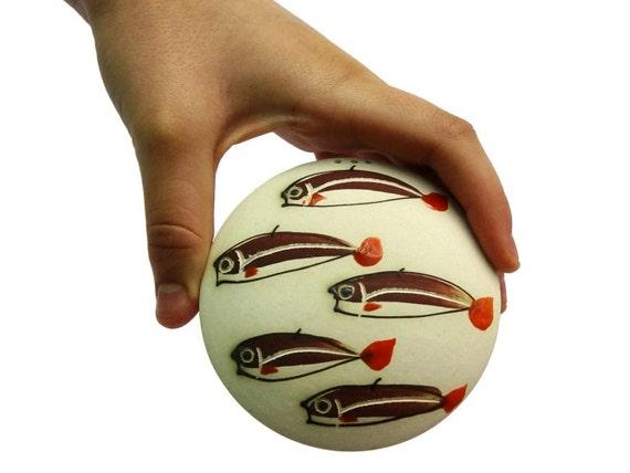 Stoneware Salt shaker, Pottery Salt Cellar, Fish Salt Shaker, Pottery Gift, Funny animals, Cute pottery, Animal Pottery, Danko Pottery