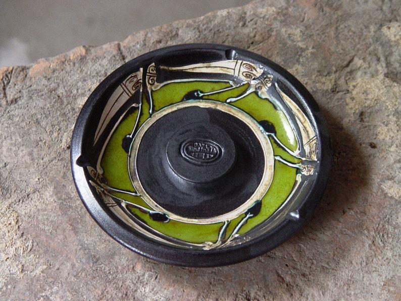 Ash tray  Smoking tray  Pottery ash tray  Ceramic ash tray image 0