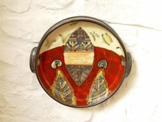 Ceramics and Pottery Plate, Wall Hanging Pottery Dish. Wall Decoration, Home Decor, Handmade Pottery, Ceramic art, Danko Pottery