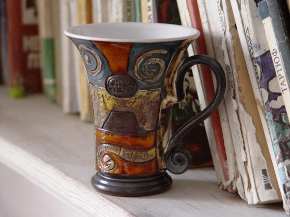 Coffee Mug, Tea mug, Ceramics and Pottery, Clay mug, Pottery mug, Hand thrown mug, Unique mug, Handcrafted mug, Hand painted mug