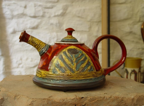 Handmade Pottery Teapot, Wedding Gift, Ceramic Tea Pot, Unique Tea Maker, Danko Pottery