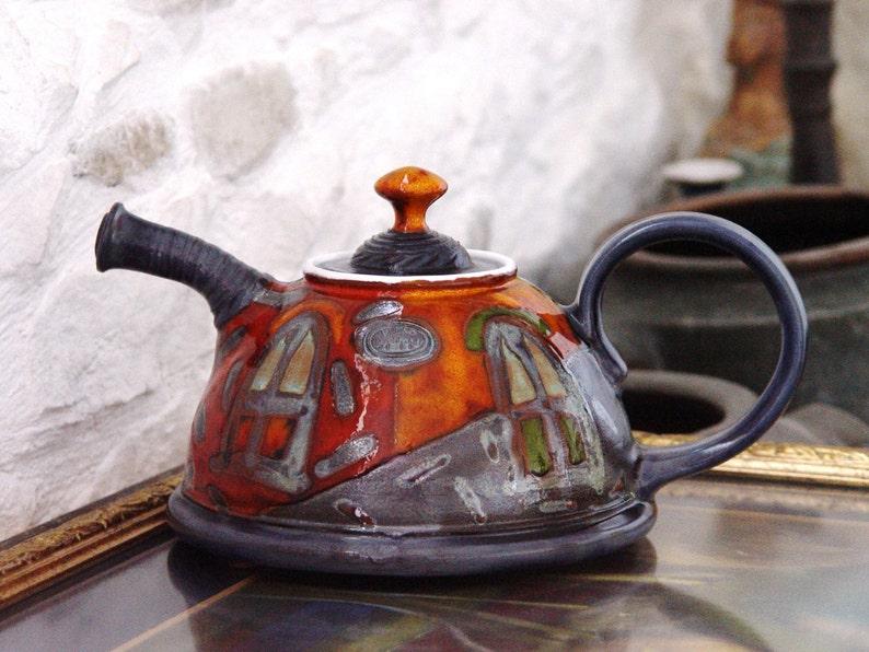 Ceramic Tea Pot Unique Handmade Pottery Teapot Clay Teapot. image 0