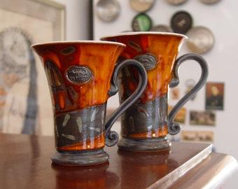Unique Pottery Mug - Teacup - Coffee Mug - Cute Ceramic Cup - Hand Painted Pottery, Ceramic Art, Danko Pottery
