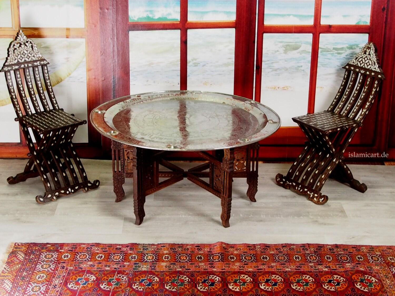 97 Ø cm orientalische ägyptisch tablett Teetisch Tisch   Etsy