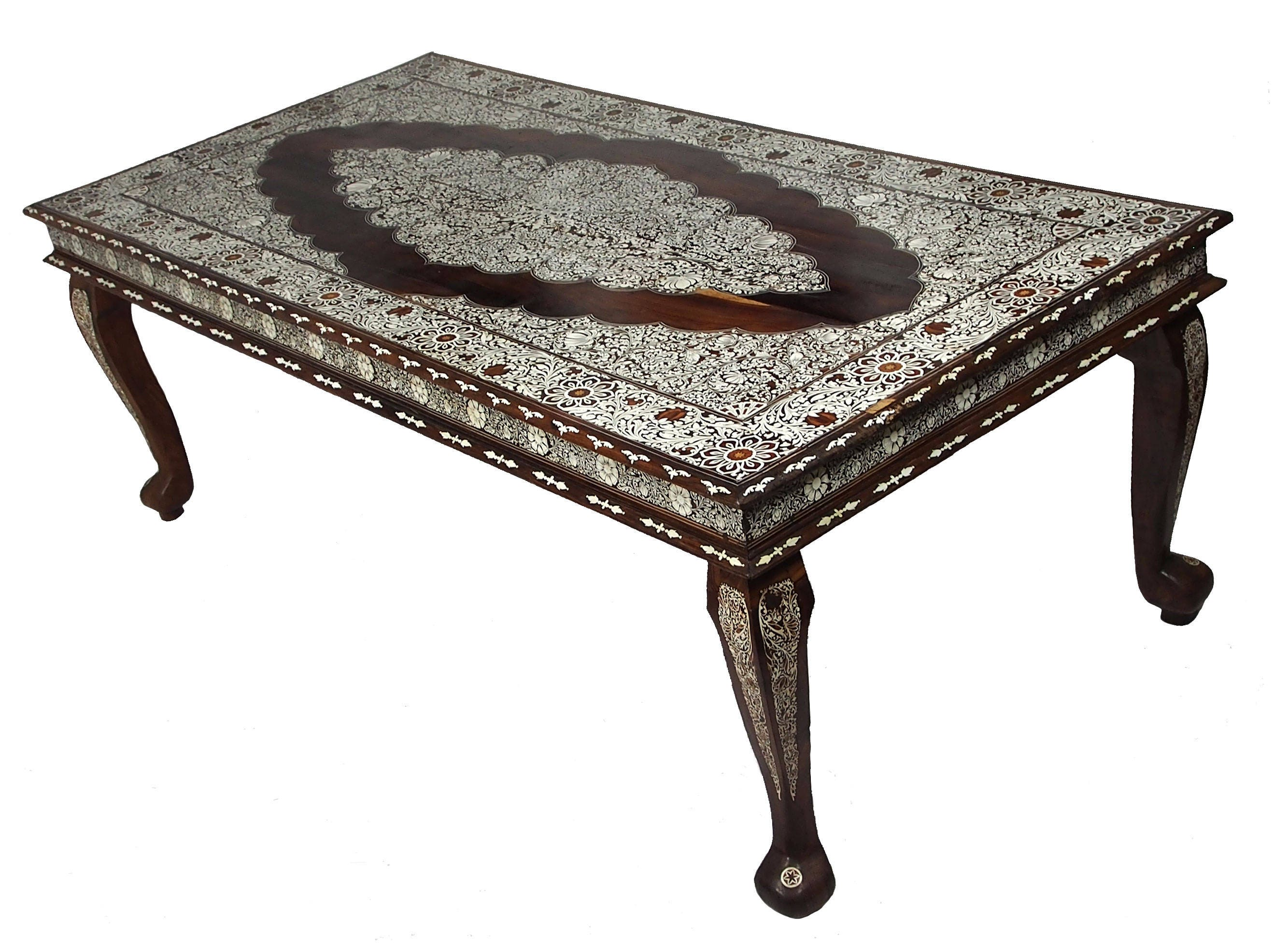 240x120 cm antik orient kolonial Massiv holz handgeschnitzte   Etsy