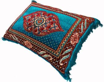 80x58 cm orient Afghan nomad rug seat cushions floor cushion pillow Turkmen 1001 night unit price  (Blu-2021)