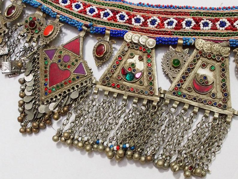 antique handmade vintage nomadic Afghan Tribal Dancing Tribal Belt   No-G